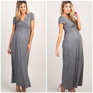 PINK BLUSH Grey Maxi Dress